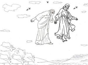 wizja, siedząc z Jezusem