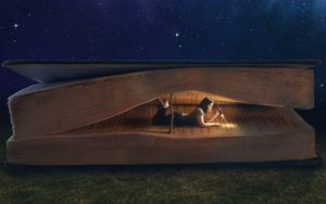 woman-book-reading-night