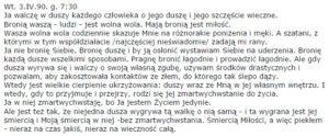 A. Lenczewska; Słowo pouczenia.