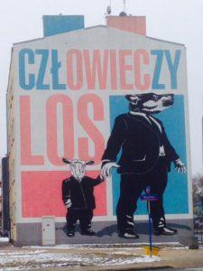 Warszawa, al. Solidarności. Człowieczy Los